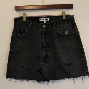 RE/DONE levis dark grey distressed skirt - 27
